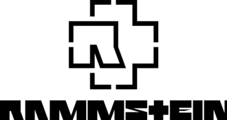 Rammstein have used their logo (top) since the release of Mutter in 2001 and their typeface since the start of their discography Rammstein logos joined.png