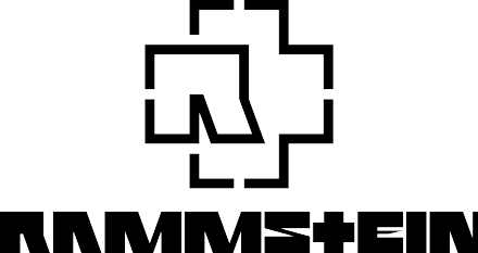 Rammstein's logo (top) and typeface, both of which have been used since the start of the band's discography Rammstein logos joined.png