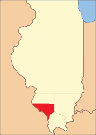 Randolph County, Illinois - Image: Randolph County Illinois 1813