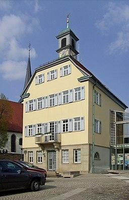 The town hall of Kirchheim am Neckar, Baden-Württemberg.