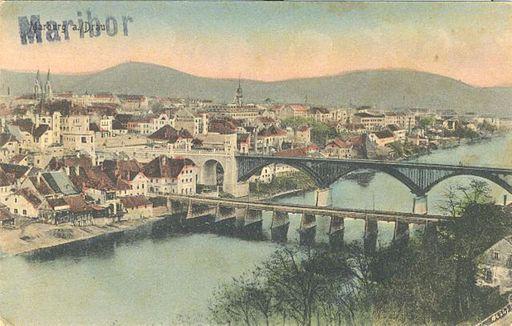 Razglednica Maribora 1918