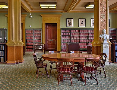 Reading room of the State Library of Massachusetts, Boston
