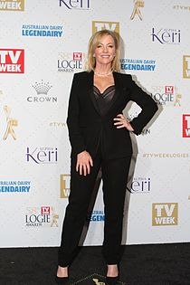 Rebecca Gibney arrives at the 58th Annual Logie Awards at Crown Palladium (26836426951).jpg