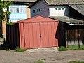 Red garage closed; Mena, Ukraine; 13.08.19.jpg