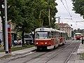 Reko TT Prašný most - Vítězné náměstí, Vítězné náměstí, Tatra T3SUCS stanicuje.jpg