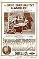 Release flier for JOHN OAKHURST, GAMBLER, 1911.jpg