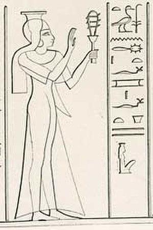 Henuttawy (19th dynasty) - Relief depicting princess Henuttawy, from Abu Simbel