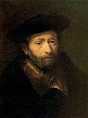 Portrait of a Bearded Old Man with a Hand in his Cloak