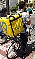 Repartidor en bicicleta de Glovo a València.jpg