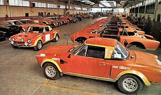 Fiat 124 Sport Spider - Fiat Abarth 124 Rallyes in Abarth factory in Turin