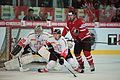 Reto Berra (L), Mathias Seger (M), Andrew Ladd (R) - Switzerland vs. Canada, 29th April 2012.jpg