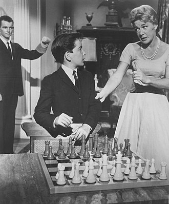 The Betty Hutton Show - Richard Miles, Dennis Joel and Betty Hutton in a scene from the show, 1959.