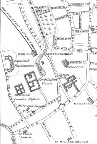 St. Brendan's Hospital, Dublin - Image: Richmond District Asylum and North Dublin Union