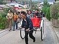 Rickshaw by fabichan in Arashiyama, Kyoto.jpg