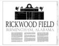 Rickwood Field, 1137 Second Avenue West, Birmingham, Jefferson County, AL HABS ALA,37-BIRM,5- (sheet 1 of 22).png