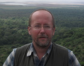 Andrey Korotayev over the Rift Valley, North Tanzania, November 2008