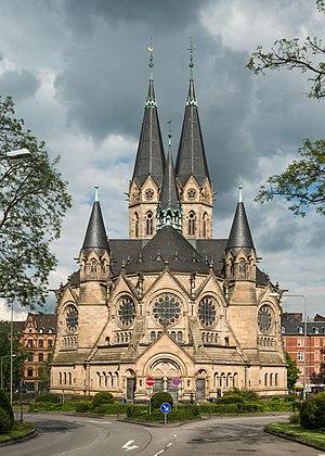 Wiesbaden-Rheingauviertel - Ringkirche in the eastern part of Rheingauviertel, at the border to Westend borough