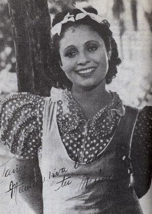 Rita Montaner - Rita Montaner in 1938 during the shooting of El romance del palmar.