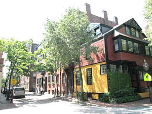 Frank Hill Smith - Sunflower House, Beacon Hill, where Smith lived c. 1864 (photo taken 2010)