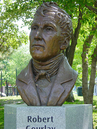 The Reform Movement (Upper Canada) - Bust of Robert Fleming Gourlay