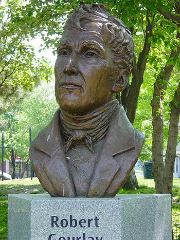 English: Bronze image of Robert Gourlay, Toron...