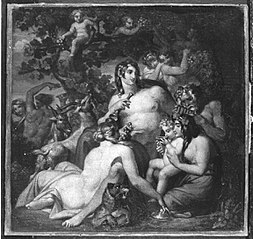 Erziehung des Bacchus (Ölskizze)