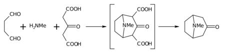 Robinson tropinone synthesis.png