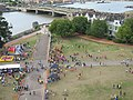 Rochester Castle Gardens, ready for the Medway Mile. - geograph.org.uk - 1418239.jpg
