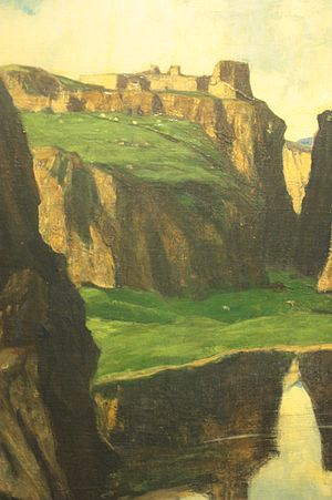 David Young Cameron - Rocks and Ruins by David Young Cameron 1913