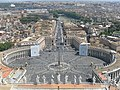 Rome Saint Peter's Square view from the dome of Saint Peter's Basilica 3.jpg