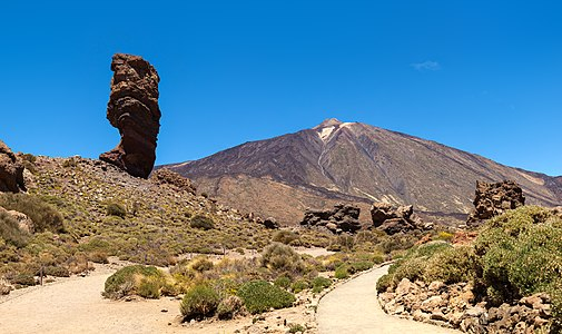 Roque Cinchado and Teide in Tenerife, Spain