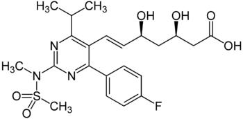 Strukturformel von Rosuvastatin
