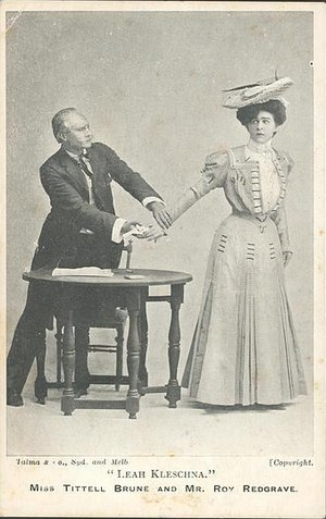 Minnie Tittell Brune - Roy Redgrave and Miss Tittell Brune appearing in Leah Kleschna circa 1907