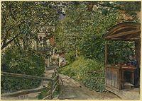 Rudolf von Alt Bad Gastein Garten der Familie Alt 1890.jpg