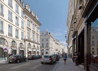 Rue Saint-Honoré street in Paris, France