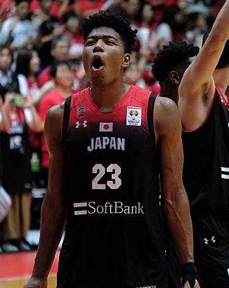 Rui Hachimura - Hachimura playing for Japan in 2018