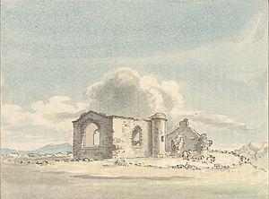 Dydd Santes Dwynwen - St Dwynwen's Church, Llanddwyn c.1778