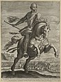 Ruiterportret van Maurits. Op de achtergrond de Slag bij Turnhout, 1597. In de ondermarge zijn naam. NL-HlmNHA 1477 53011492.JPG
