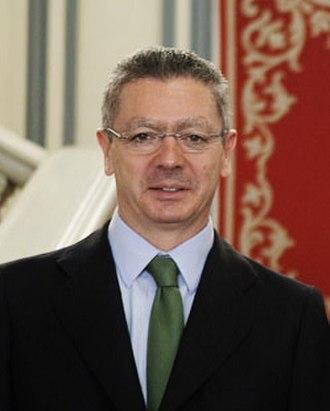 Alberto Ruiz-Gallardón - Image: Ruiz Gallardón, Ministro de Justicia (2012)