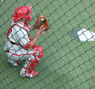 Carlos Ruiz (baseball) - Ruiz warming up in the bullpen