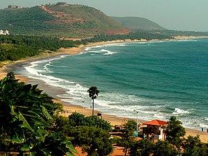 Rushikonda Beach - Image: Rushikonda beach view 001