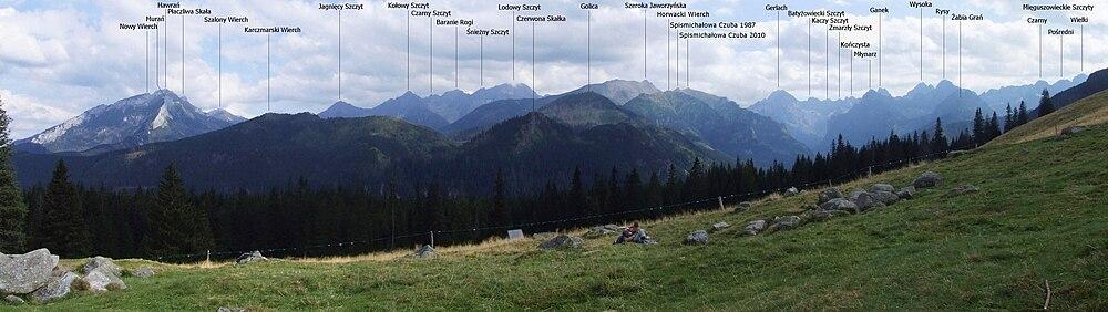 Panorama z Rusinowej Polany