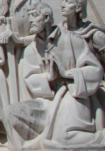 Effigy of Saint Francis Xavier in the Monument to the Discoveries in Lisbon, Portugal Sao Francisco Xavier - Padrao dos Descobrimentos.png