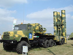 A KrAZ-6446 as a missile launch vehicle of the S-300PMU2 air defense system