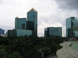 SCB Park Plaza in July, Bangkok, Thailand. HQ ...