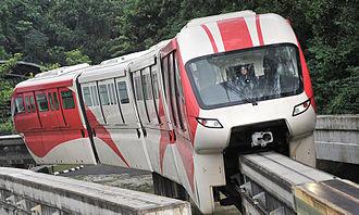 Rapid KL - Scomi Sutra 4-car train on KL Monorail.