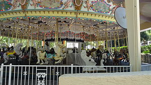 Six Flags Magic Mountain - Grand Carousel is a family friendly ride located in the Six Flags Plaza area.