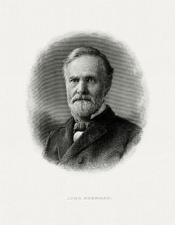 SHERMAN, John-Treasury (BEP engraved portrait)