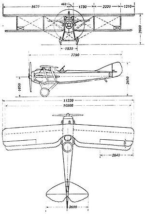SPAD S.XI - SPAD XI drawing