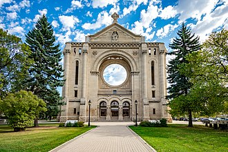 Saint Boniface Cathedral - Front view of St. Boniface Cathedral.